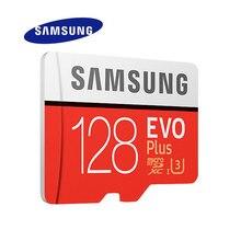 סמסונג מיקרו SD זיכרון כרטיס EVO + 128GB 100 MB/s SDXC C10 U3 UHS I MicroSD TF כרטיס EVO בתוספת 128G כיתת 10 כיתה 3 100% מקורי