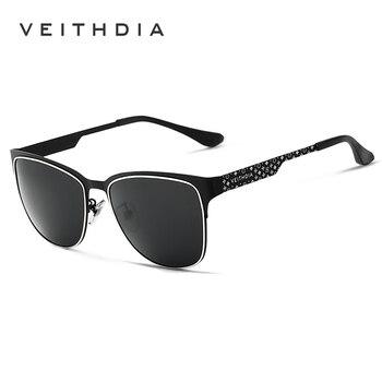 Nuevas gafas de sol de marca polarizada VEITHDIA para hombre, gafas de sol Vintage para mujer, gafas, gafas de sol masculinas 3580