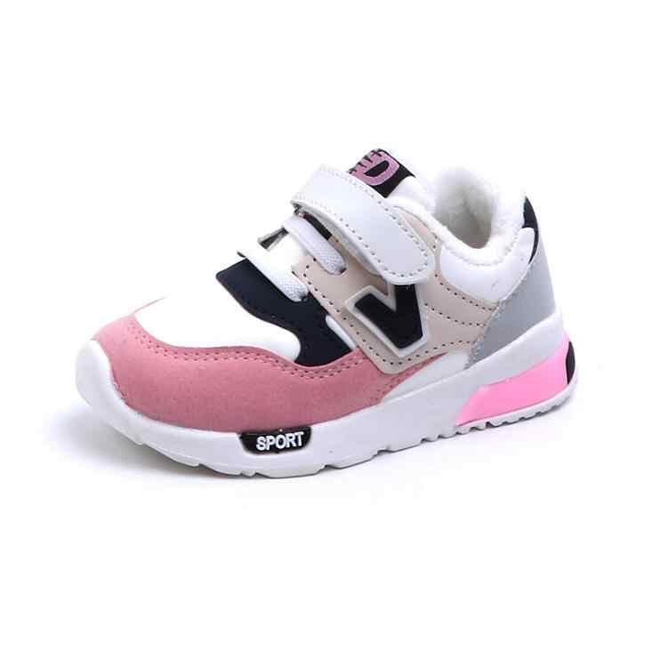 Children Sport Fleece Shoes Autumn Winter Fashion Breathable Kids Boys Shoes Girls Anti-Slippery Sneakers Baby Toddler Shoes
