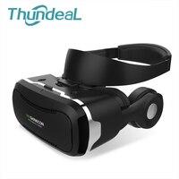 3D VR Okulary VR Virtual Reality Smartphone 3D Box z Stereofoniczny Zestaw Słuchawkowy Słuchawki Tektury Maska Okulary dla 3.5-6 cal Mobilna