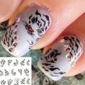 1 pc New Nail Art leopardo impressão Tranfer Água Adesivo de Unhas Beleza Wraps Foil Polonês Decalques Tatuagens Temporárias Watermark BLE576