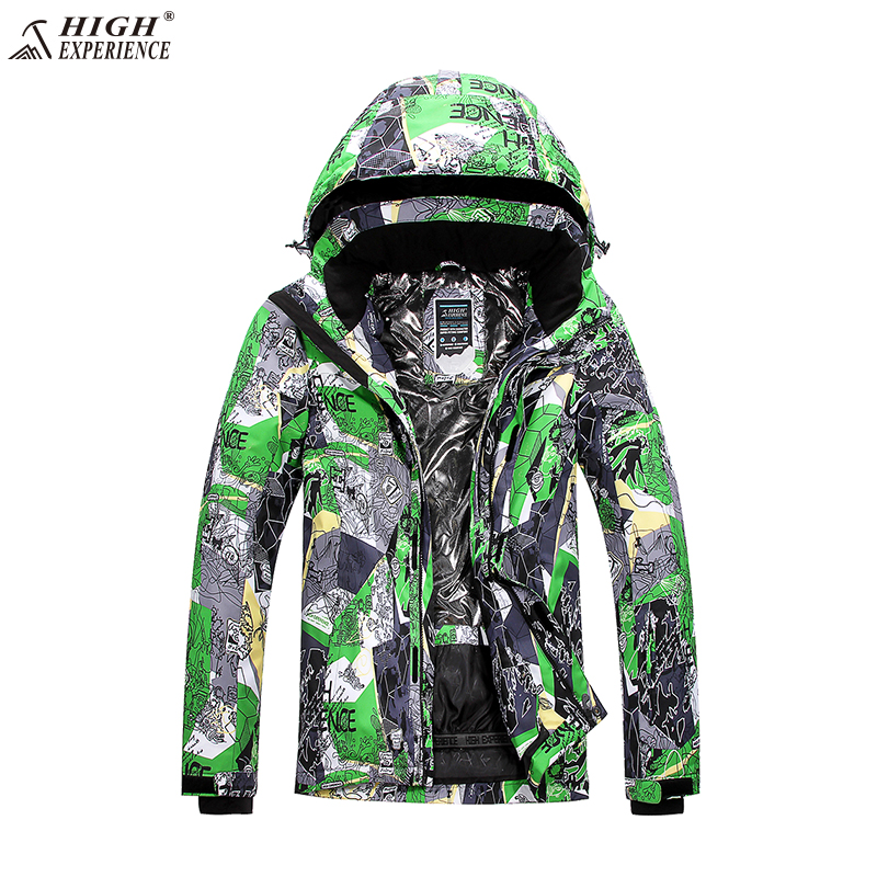 цена High Experience Ski Jacket Men Winter Snow Clothing Fashion Letter Printed Winter Snowboard Jackets Mountain Skiing Outdoor Coat