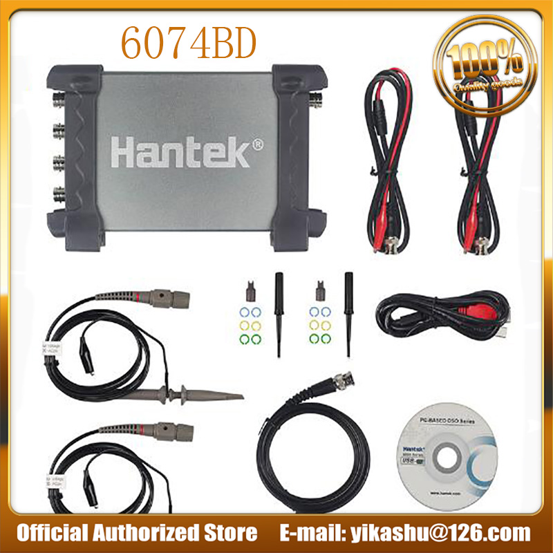 Hantek 6074BD 4 Channels 70MHz Bandwidth 1GSa s real time sampling Digital Storage Oscilloscope Best price