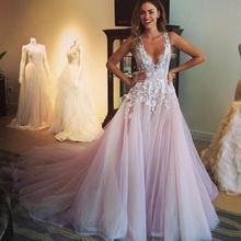BONJEAN deep V Sexy A line Prom Dresses 2019 Princess 3D