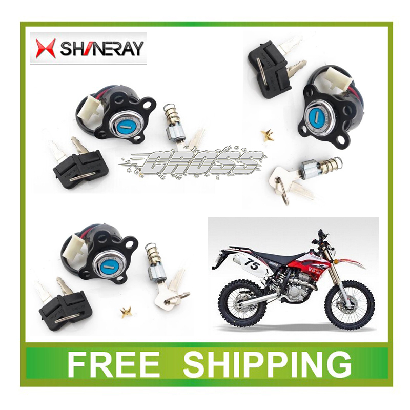 Key Switch Ignition SHINERAY X2 X2X  250CC XY250GY Dirt Bike MOTORCYCLE Accessories Free Shipping