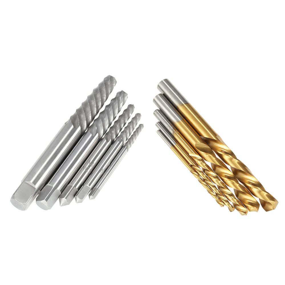 10pcs Cobalt Esquerda Mão Broca set + Parafuso Quebrado Danificado Parafuso Extractor Set + Caixa de Metal de Alta Qualidade