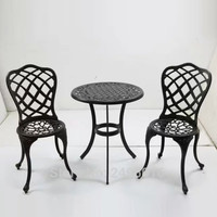 Set of 3 pcs New Patio Furniture modern Design Cast Aluminum Bistro Set garden chairs and table