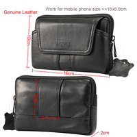 Holster Belt Clip Mobile Phone Genuine Leather Case Pouch For Xiaomi Redmi Note 5 Pro Blackview