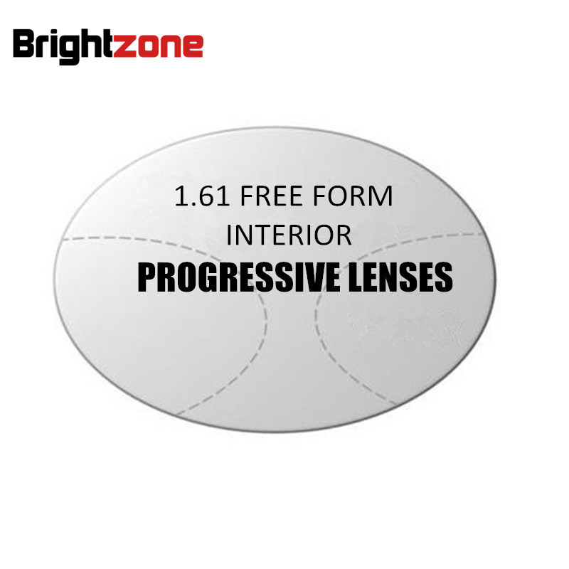 1 61 Free Form Progressive multi focus non line CR 39 resin prescription Rx Addition lenses