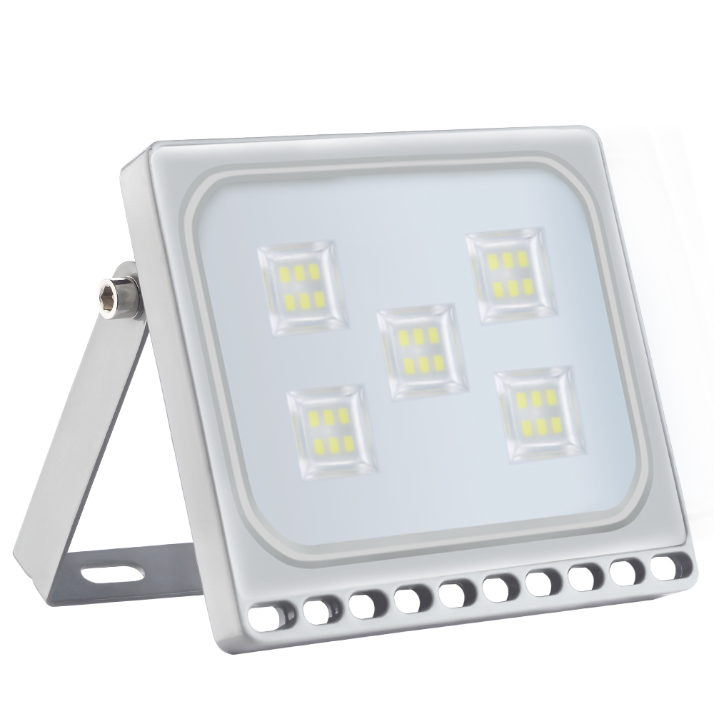 10Pcs 30W 220V Ultra Thin LED Flood Light IP65 3300LM Spotlight Floodlight For Outdoor Garden Wall Street Lighting LED Projector