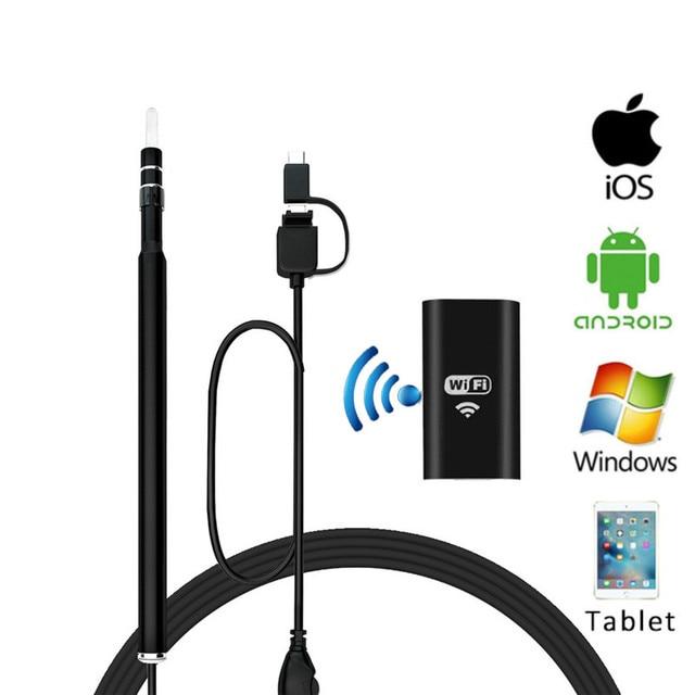 جديد hd 720 وعاء wifi المحمولة القلم منظار آيفون أندرويد كمبيوتر الأذن الرعاية الصحية التفتيش فيديو شمع earpick النظيفة 3in1 كاميرا