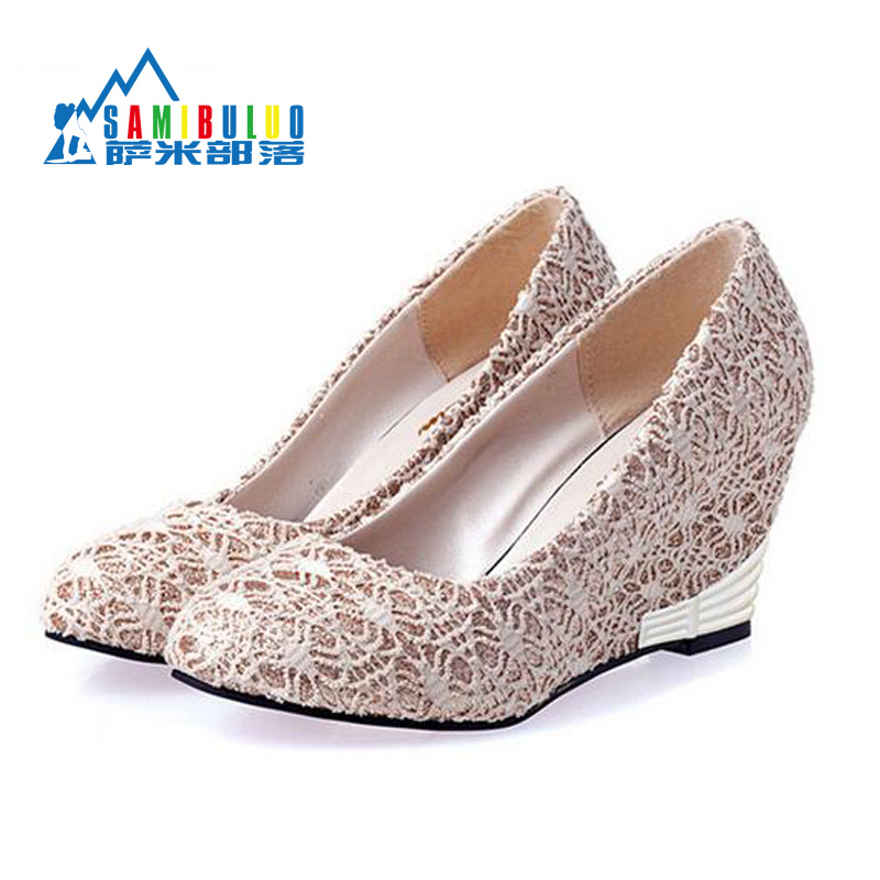 Lace Wedge Heels Promotion-Shop for Promotional Lace Wedge Heels