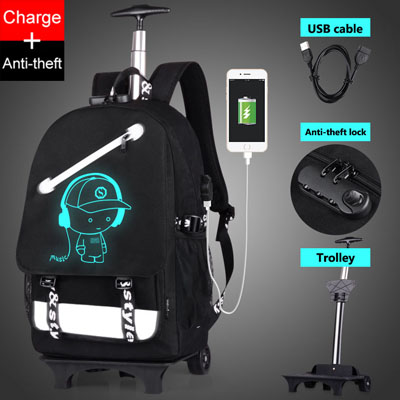 Luminous Animation Back to School Backpack 7