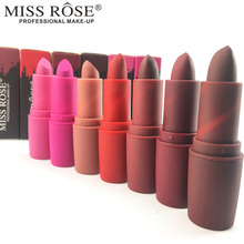 MISS ROSE Lipstick Moisturizer Smooth Lips Stick Long Lasting Charming Lip Lipstick Cosmetic Beauty Makeup by MISS ROSE
