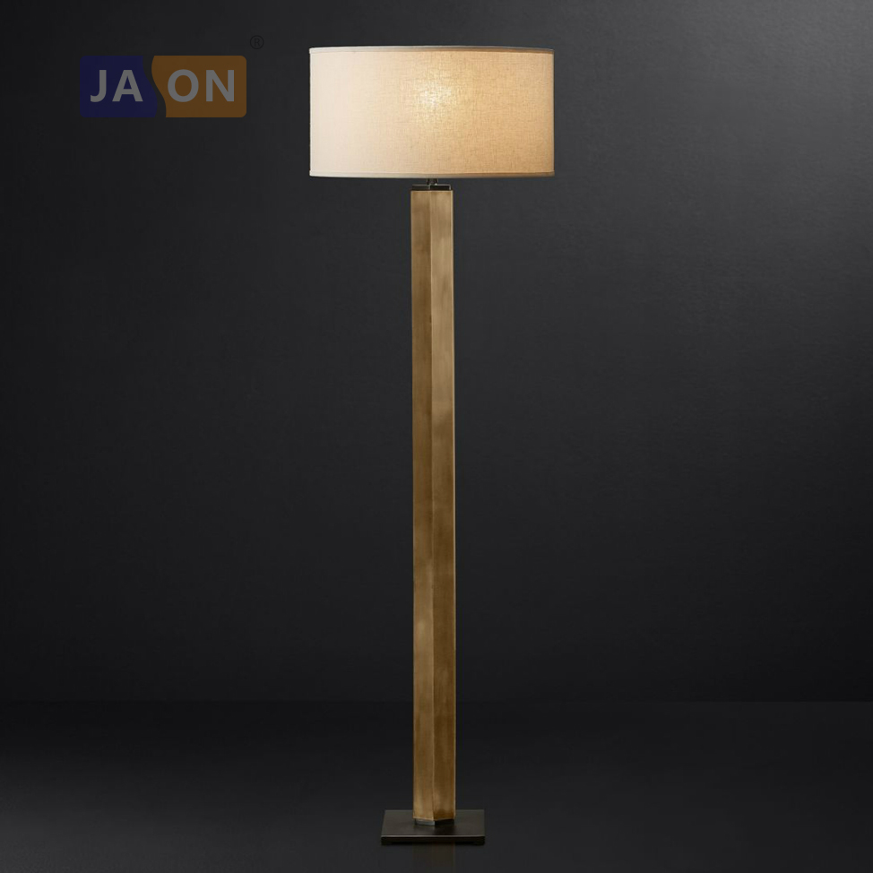 led e27 Vintage American Iron Fabric Copper Black LED Lamp LED Light LED Floor Lamp Floor Light For Foyer Dinning Room Bedroom
