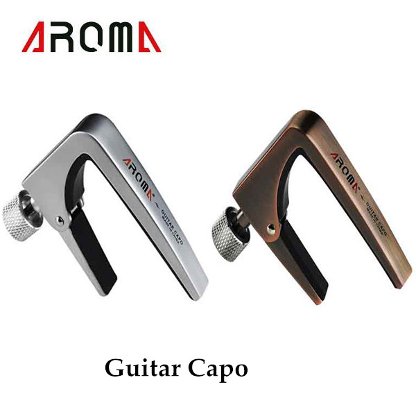 brand new aroma ac 11 guitar capo zinc alloy for acoustic electric guitars unique silver and. Black Bedroom Furniture Sets. Home Design Ideas