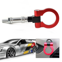 DWCX Red Racing Screw Billet Machined Aluminum Towing Bars Towing Hook Trailer For Honda S2000 AP1