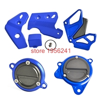 Motorycle Frame Guards Front Sprocket Cover Starter Motor Cover Oil Filter Cover For Kawasaki KLX250 D