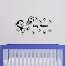 Custom Personalized Any Name Football Wall Decals For Boys Bedroom Home Art Decoration Vinyl Reovable Sticker Y-589