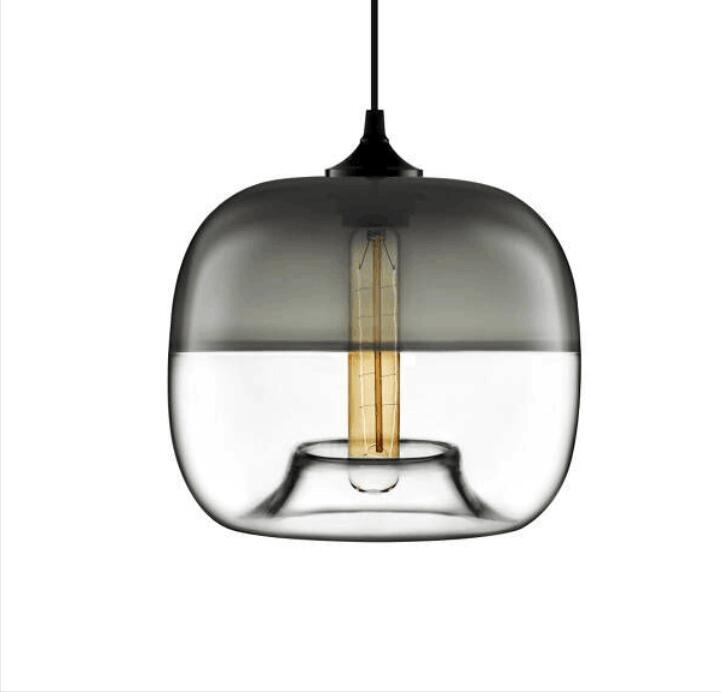 Creative personality electroplating apple glass lamps and lanterns of restaurant Contemporary  single head bar LED lamps contemporary and contracted creative personality retro art glass chandelier cafe restaurant study lamps act the role of milan