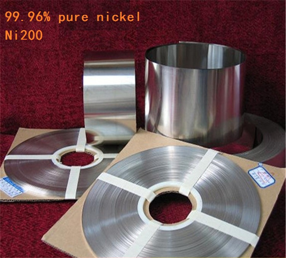 99.96% Pure Nickel Plate Strap Strip Sheets pure nickel for Battery electrode Spot Welding Machine 0.1mm x 20mm x5000mm 5m/roll