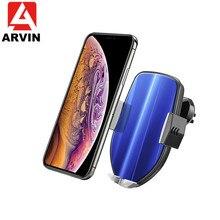 Cargador inalámbrico Qi con Control táctil inteligente Arvin, soporte para teléfono de coche para iPhone 8 XS XR Samsung, soporte para teléfono de carga rápida