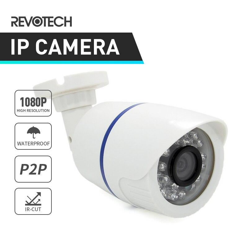 imágenes para Impermeable 1920x1080 P 2.0MP 24LED IR Al Aire Libre Cámara IP Bullet Cámara de Visión Nocturna ONVIF P2P IP CCTV Cámara de seguridad con IR-Cut