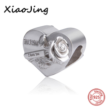 цена на High Quality Mum I Love You charms Beads Fit Pandora charms silver 925 original beads jewelry making for mother gifts