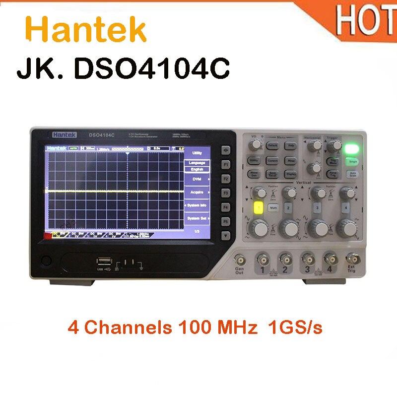 hot Hantek DSO4104C USB Digital Oscilloscopes 4 Channels Oscilloscope 1GS/s 7 In