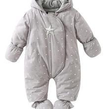 Новинка г.; Лидер продаж; зимняя верхняя одежда высокого качества; зимнее пальто; комбинезоны для новорожденных; теплый Детский комбинезон с защитой от холода