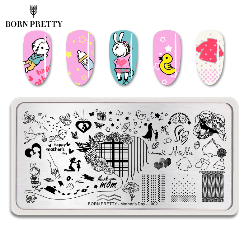 Geometric Reverse Stamping Nail Art Born Pretty Review: Aliexpress.com : Buy BORN PRETTY Mother's Day Nail