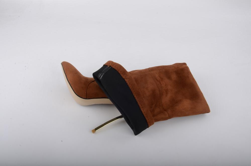 rumbidzo 2017 осенне-зимние женские ботинки стрейчевые тонкие высокие сапоги до бедра модные ботфорты женская обувь на высоком каблуке сапатос