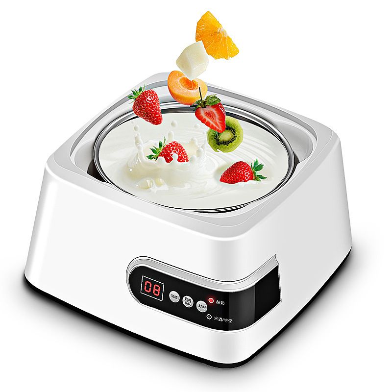 Full-automatic Yogurt Machine Household Multi-function Yogurt Maker Leben /Natto /Rice Wine +5 glass cups hyundai пороги алюминиевые luxe silver 1800 серебристые grand santa fe 2014