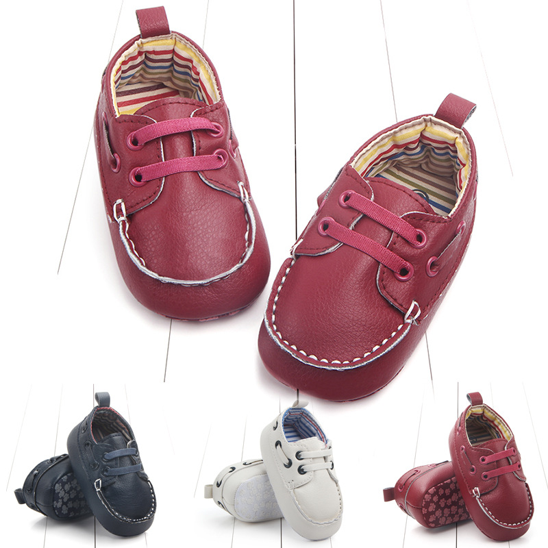 Free Shipping 1pair PU Baby First Walkers Shoes+AGE3-12 M,antiskid toddlers/Newborn Pre- ...