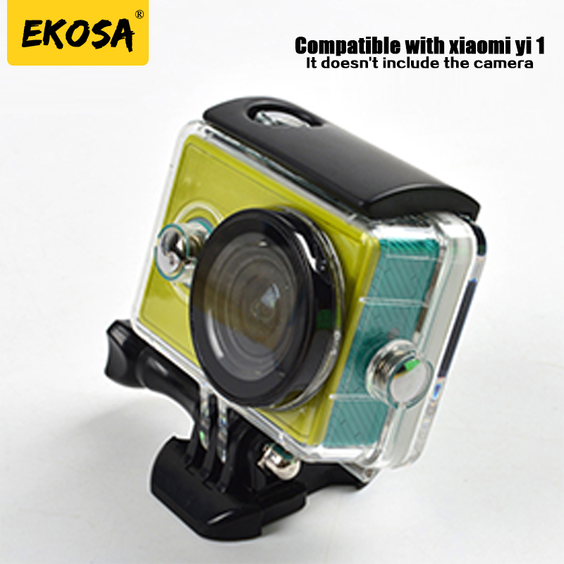Ekosa Waterproof Housings for xiaomi yi 1 Diving Protect case shell for xiaomi yi sport action