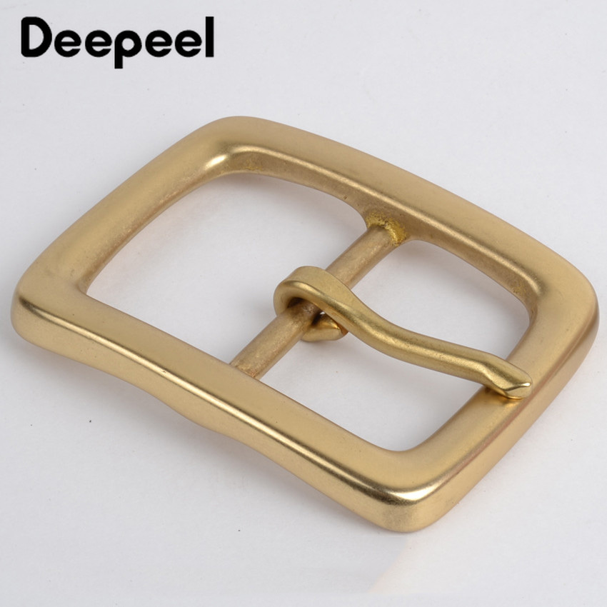 Deepeel 1pcs 40mm Men Belt Buckle Pure Copper Buckles Brass DIY Business Casual Belt Buckles Handmade Carfts Accessories F1-39