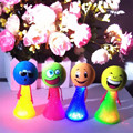 50pc/lot Funny Expression Colorful Educational Toys Stress Fly Man Jump light up Bounce Elf Children Kids Gift safety toy