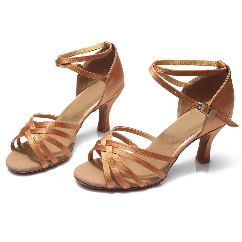מכירה לוהטת נשים מקצועי סלוניים ריקוד נעלי גבירותיי ריקוד לטיני נעליים עקב 5 cm/7 cm