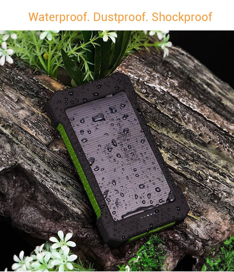 19 Solar Power Bank 20000mAh Double USB Solar charger External Battery Portable Charger Bateria Externa Pack for smart phone 3