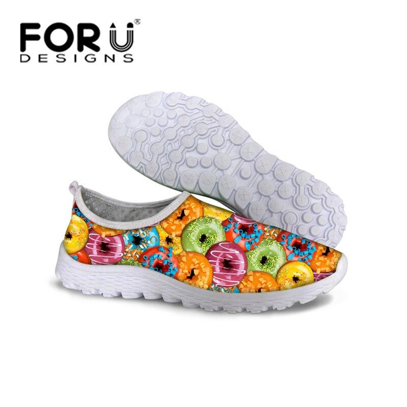 Mode De Style Alimentaire D été Chaussures pour Femmes Casual Slip-On Respirant  Mesh Chaussures Femme Europe Plat avec Chaussures de Sport Sapato 334b337ec0d8