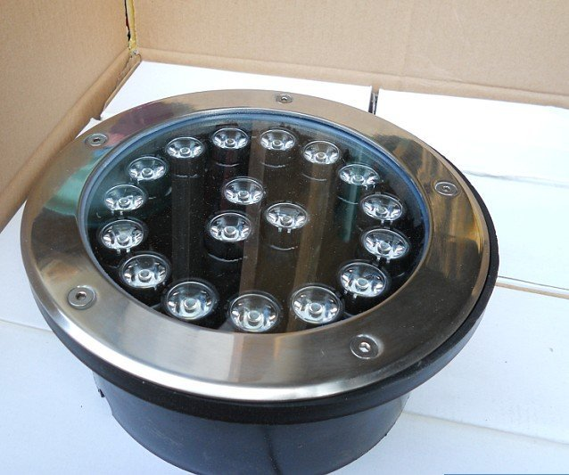 18*1W high power LED underground light;DC24V input;white color;IP68