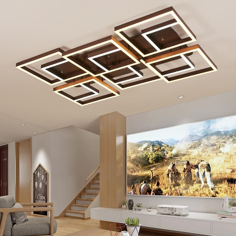 led Ceiling light Postmodern living room lamp simple creative Nordic bedroom lamp rectangular hall led ceiling lamp
