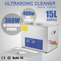 Free Shipping and Tax 15L Ultrasonic Cleaners