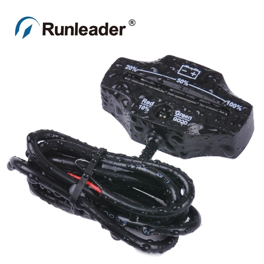 RL BI006A LED display 12 24V font b Battery b font Gauge font b battery b