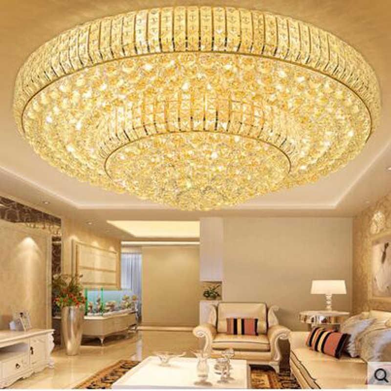 الذهبي جولة الكريستال مصباح السقف مصابيح led مطعم مصباح غرفة المعيشة مصابيح غرفة نوم سقف الجوي الإضاءة