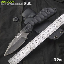 HX outdoor Integrated tactical knife camping hunting G10 Blade handle with Tactical k sheath gift box for outdoor survival EDC