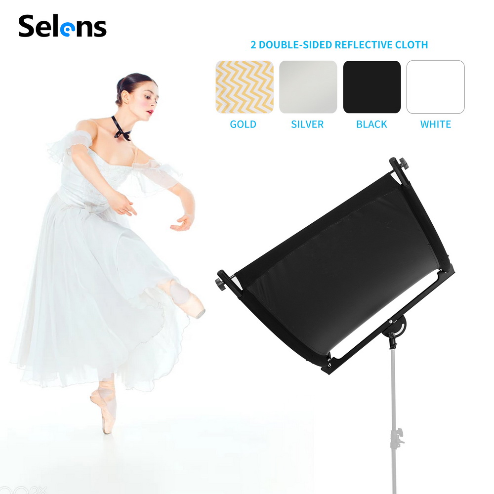 Selens Curved Light Studio Reflector for Portrait Headshot Photography 60x180cm for Photography Accessories