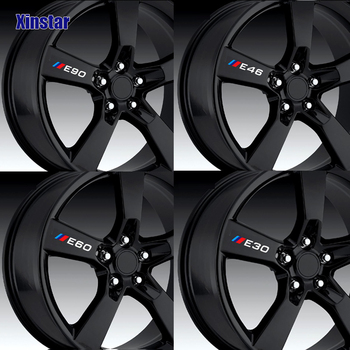 4pcs Car Wheel Sticker For BMW E30 E34 E36 E39 E46 E60 E61 E87 E90 E83 F10 F20 F21 F30 F35 M3 M5 M6 image