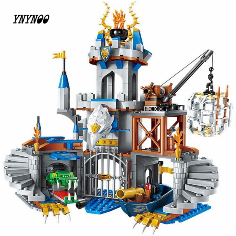 YNYNOO Enlighten 2315 Building Block War of Glory Castle Knights The Sliver Hawk Castle 6 Figures 656pcs Educational Bricks Toys rollercoasters the war of the worlds