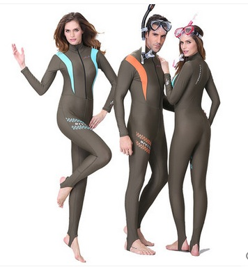 Neopren Kvinnor Sport Surfing Snorkling Wetsuit Triathlon Scuba Diving Suit Spearfishing Baddräkt Mäns Full Body Jumpsuit Wetsuit